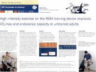 ROM machine´s effects on VO2 Max and Endurance Capacity