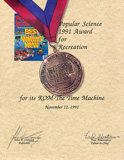 Popular Science Award - November 1991